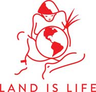 Land is Life logo
